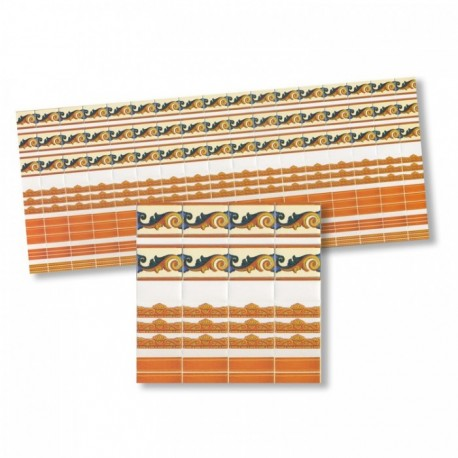 Wm34379 - Cenefas naranjas