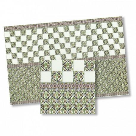 Wm34423 - Carrelages en papier décoré