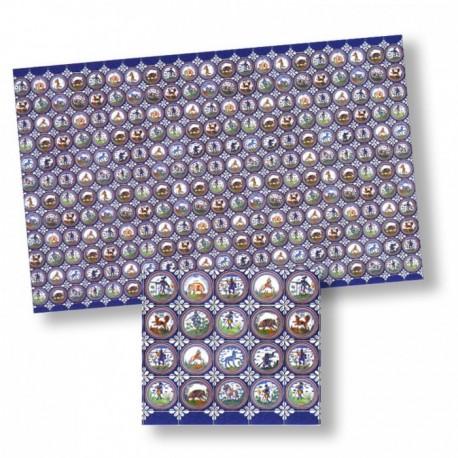 Wm34432 - Carrelages en papier décoré
