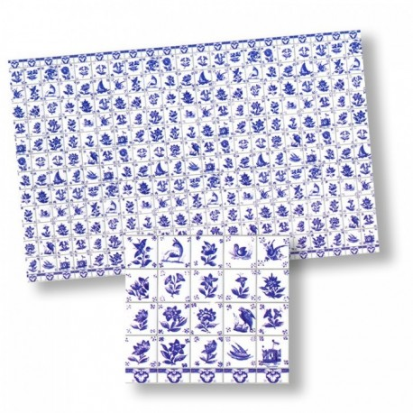 Wm34433 - Papel azulejos decorados