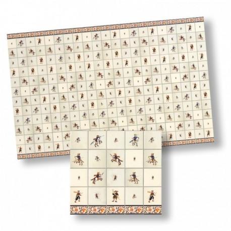Wm34436 - Papel azulejos decorados