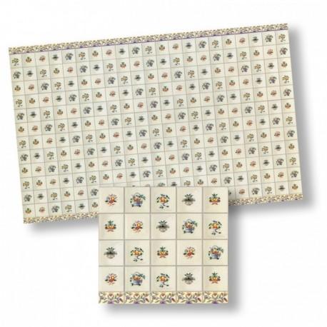 Wm34438 - Papel azulejos decorados