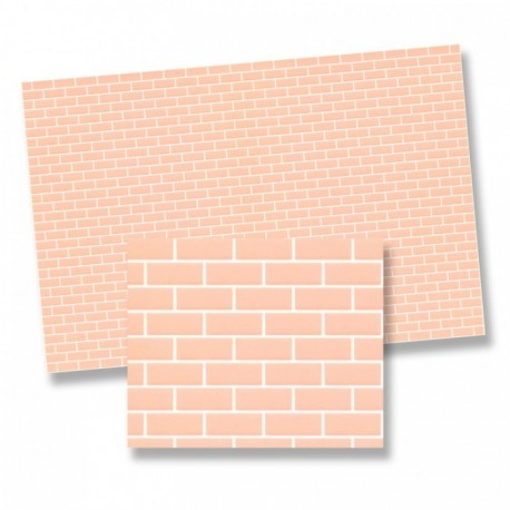 Wm34975 - Paper decorated with brick