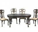 Sl6007 - Conjunto sillas y mesa negra