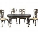 Sl6007 - Set tavolo e sedie nere