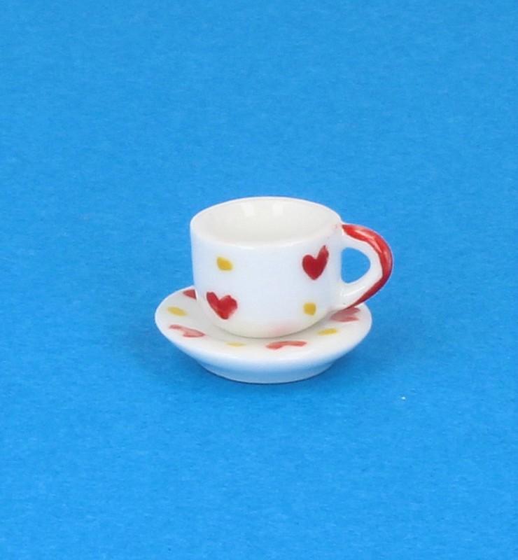Cw0113 - Taza y plato decorado