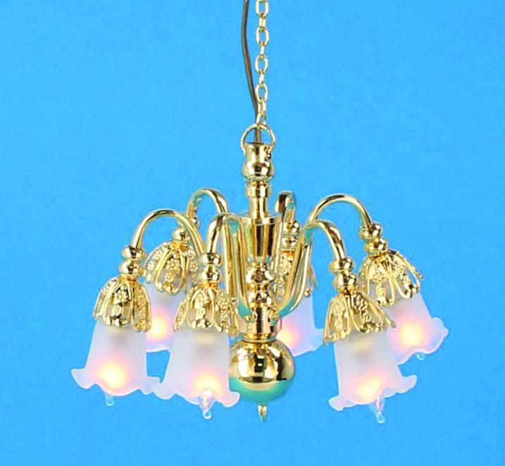 Sl3984 - Lampada da soffitto 6 paralumi