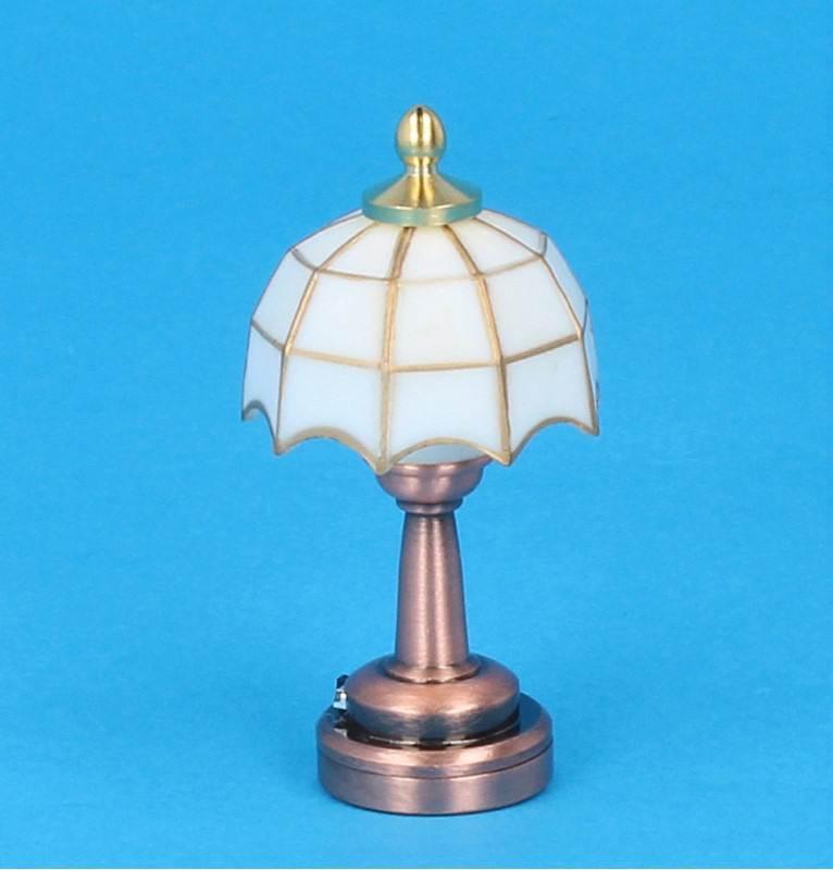 Sl4002 - Tiffany blanca de mesa Leds