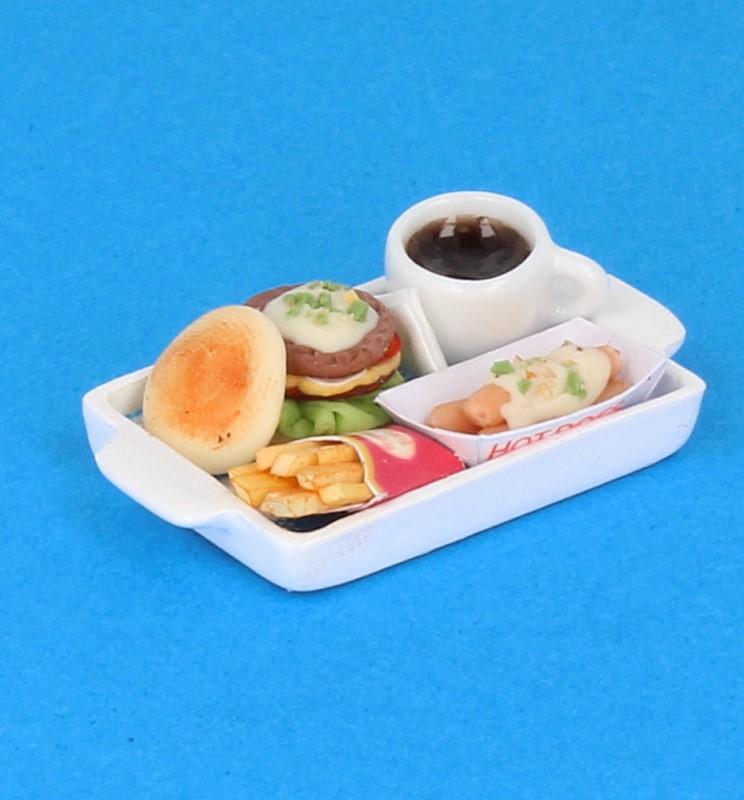 Sm3606 - Bandeja con hamburguesa