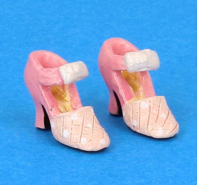 Tc0481 - Zapatos de tacón rosa
