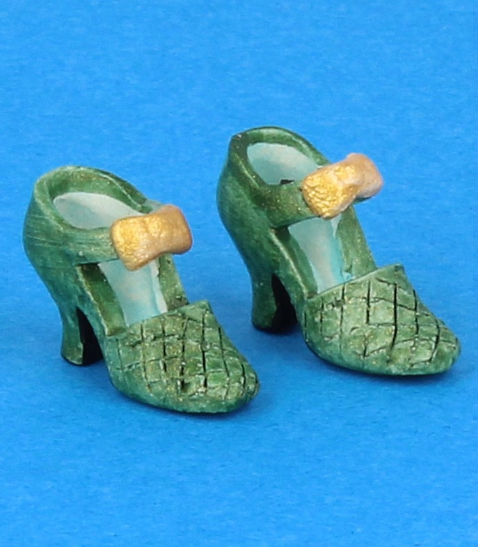 Tc0482 - Zapatos de tacón verde