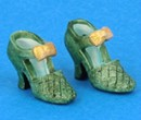 Tc0482 - Green shoes for lady