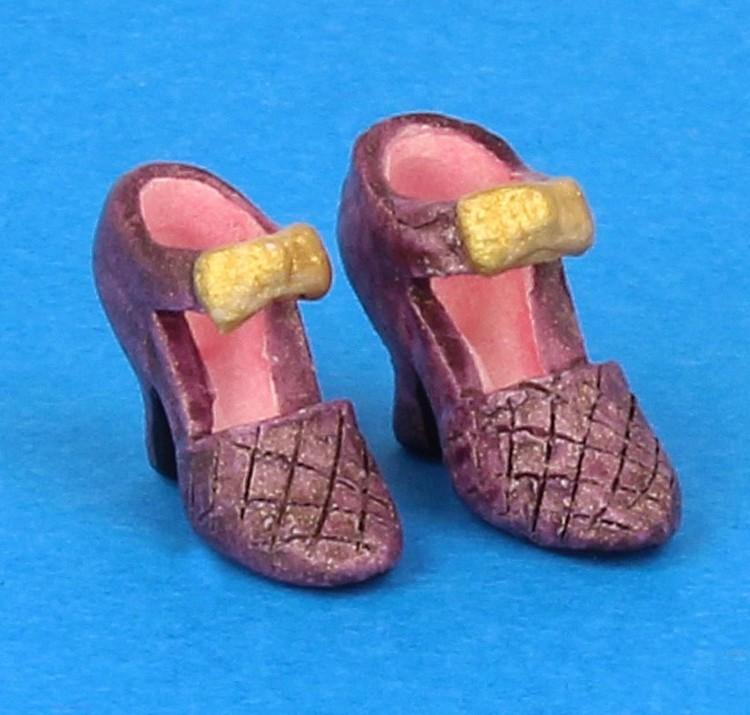 Tc0484 - Zapatos de tacón lila