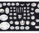 Tc5032 - Crockery with Roses 47 pieces
