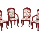Mb0484 - Four mahogany chairs