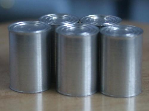 Tc0288 - Cinco latas de conserva