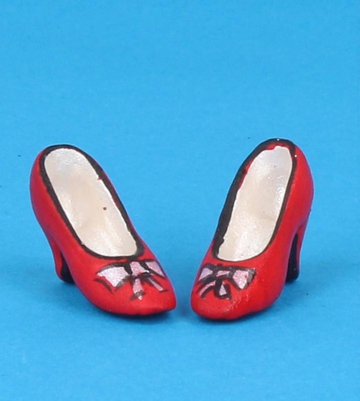 Tc0696 - Zapatos de tacón rojo