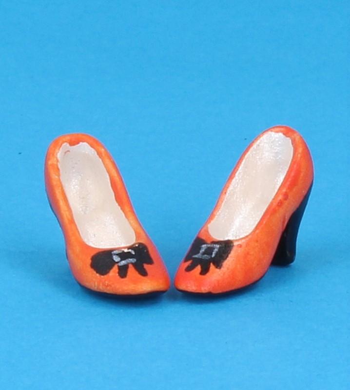 Tc0715 - Zapatos de tacón naranjas