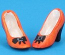 Tc0715 - Orange shoes for lady