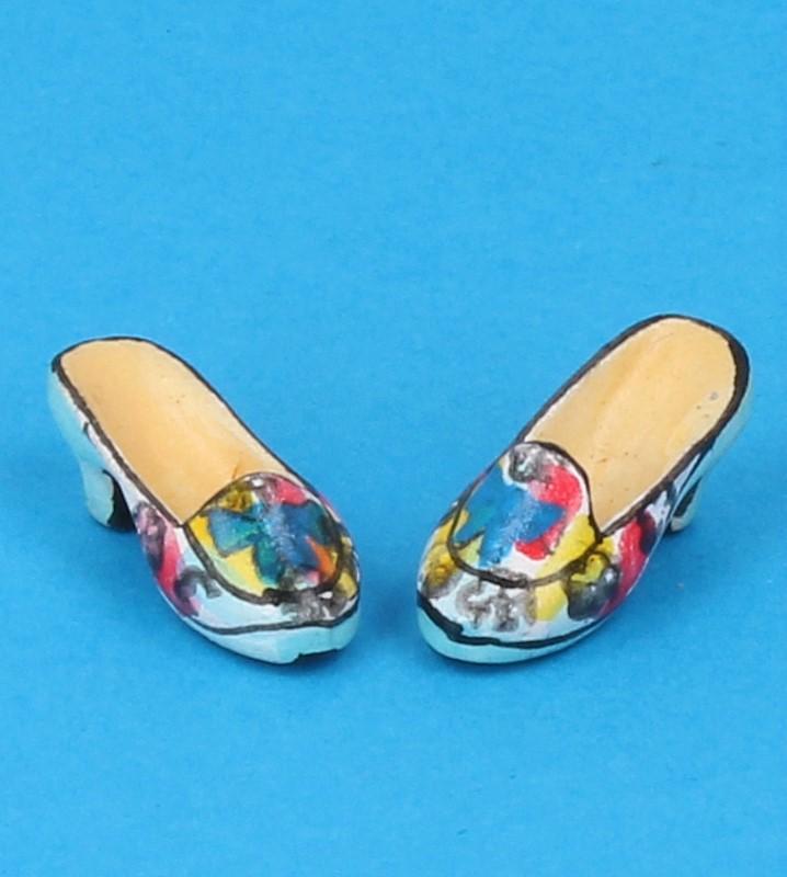 Tc0717 - Zapatos de tacón celeste