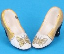 Tc0718 - Golden shoes for lady