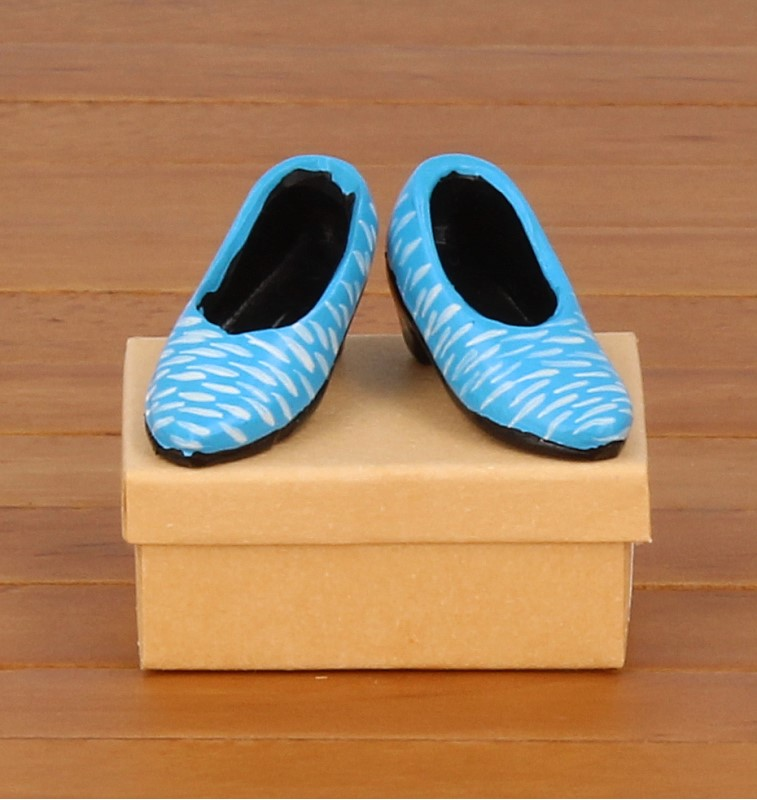 Tc1816 - Light blue shoes for lady