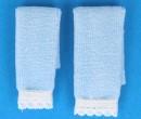 Tc2370 - Deux serviettes bleues