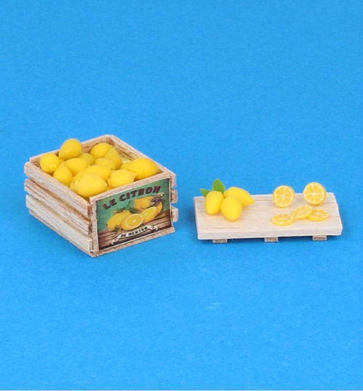 Tc2413 - Caja y tabla con limones