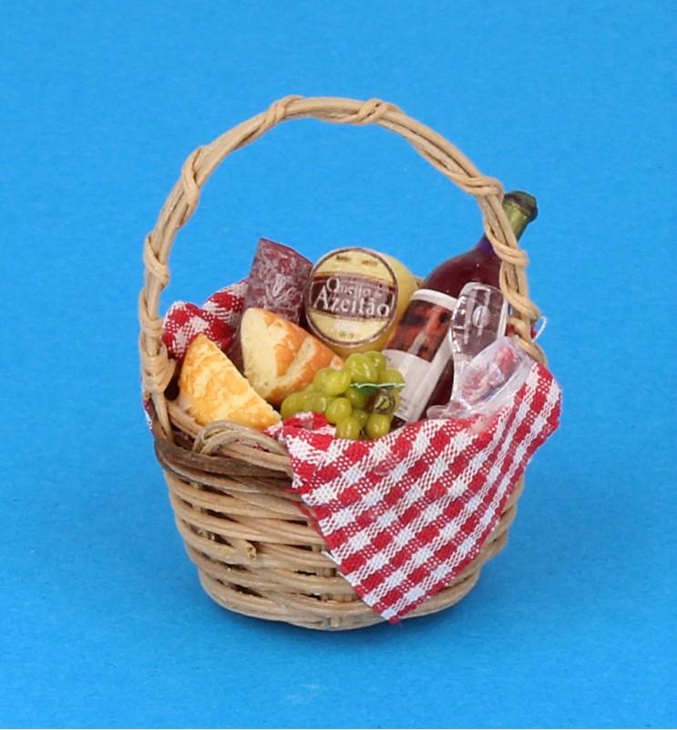 Tc2414 - Cesta de picnic con vino