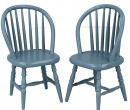 Mb0390 - Two blue chairs