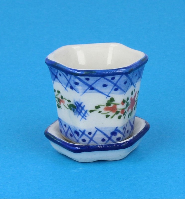 Tc2418 - Pot de fleurs en porcelaine