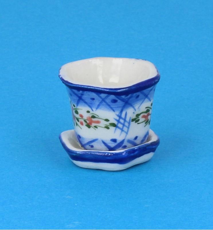 Tc2419 - Pot de fleurs en porcelaine