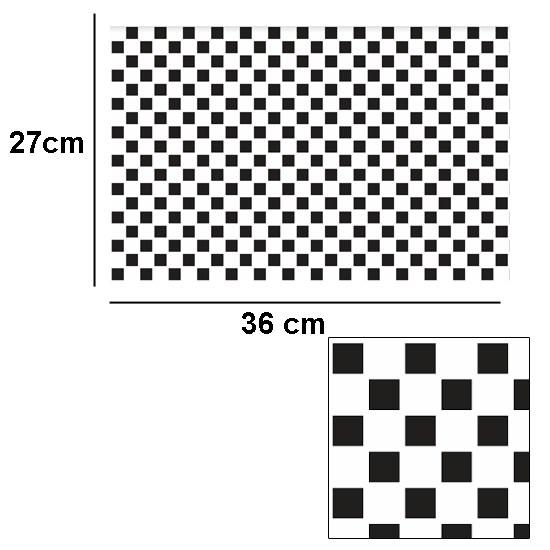 Tw2068 - Azulejos de cuadros negros con relieve