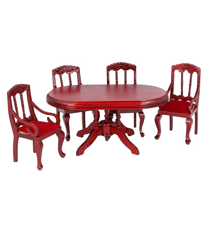 Cj0001 - Table with four chairs