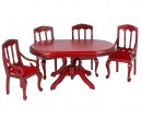 Cj0001 - Mesa y cuatro sillas