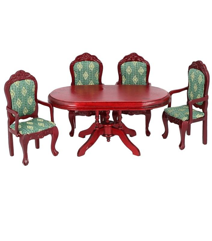 Cj0032 - Mesa y cuatro sillas