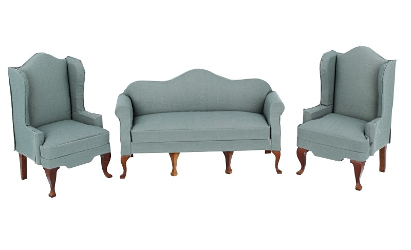 Cj0053 - Set of green sofas