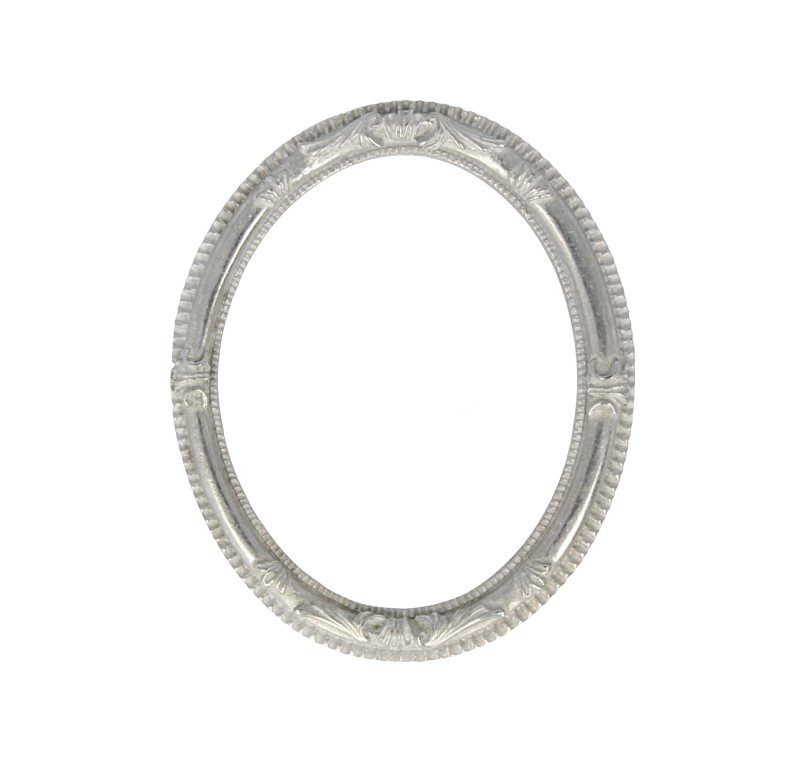 Tc0097 - Marco ovalado metálico