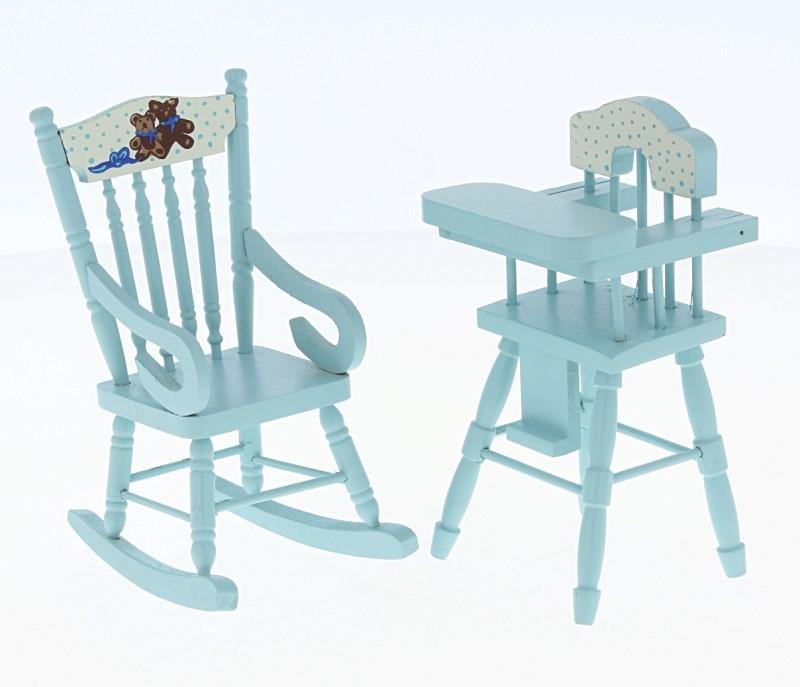 Cj0004 - High chair and rocking chair