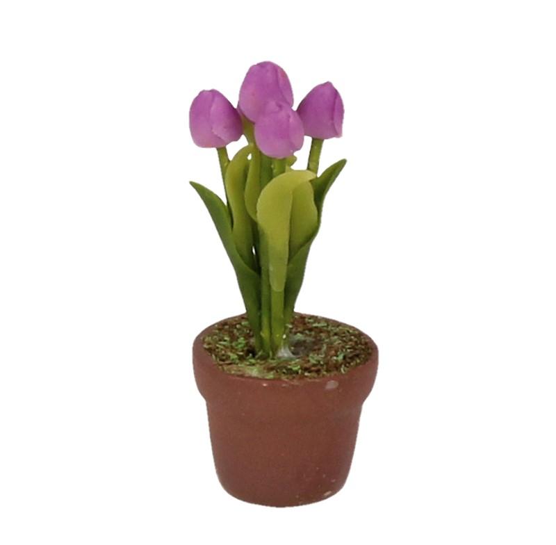 Sm4783 - Maceta con flores lilas