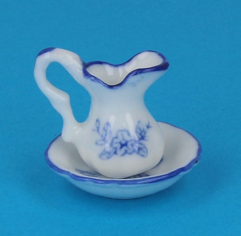 Tc1740 - Blaue Waschschüssel