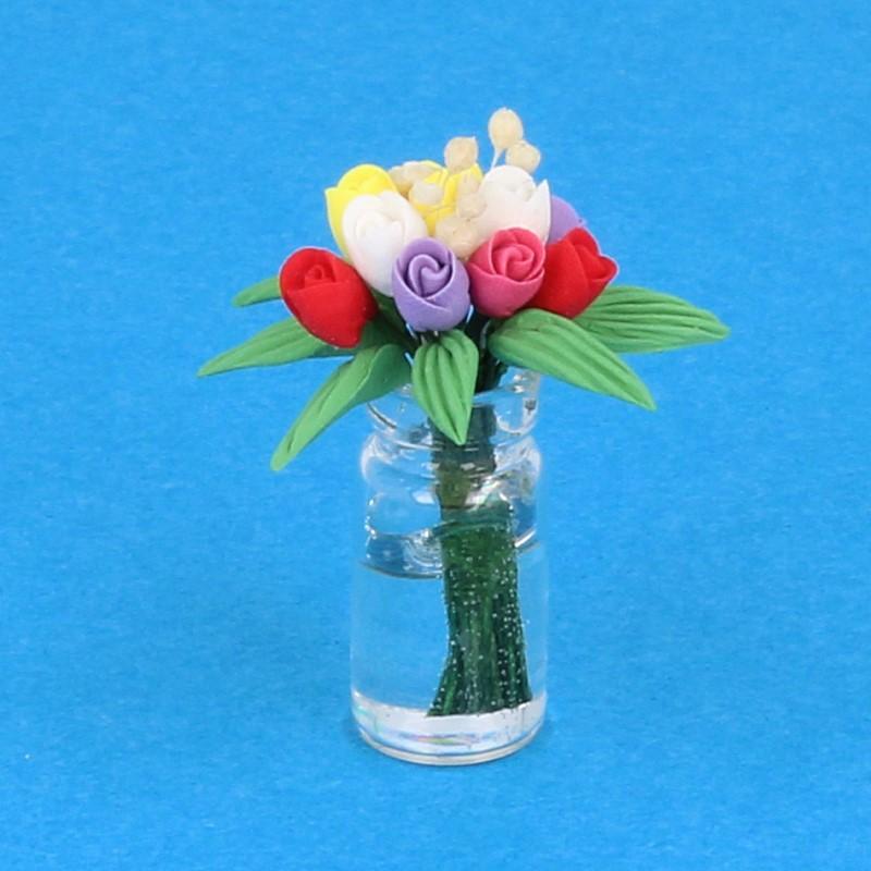 Tc2451 - Jarrón con flores
