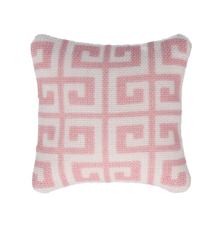 Tc2454 - Pink and white cushion