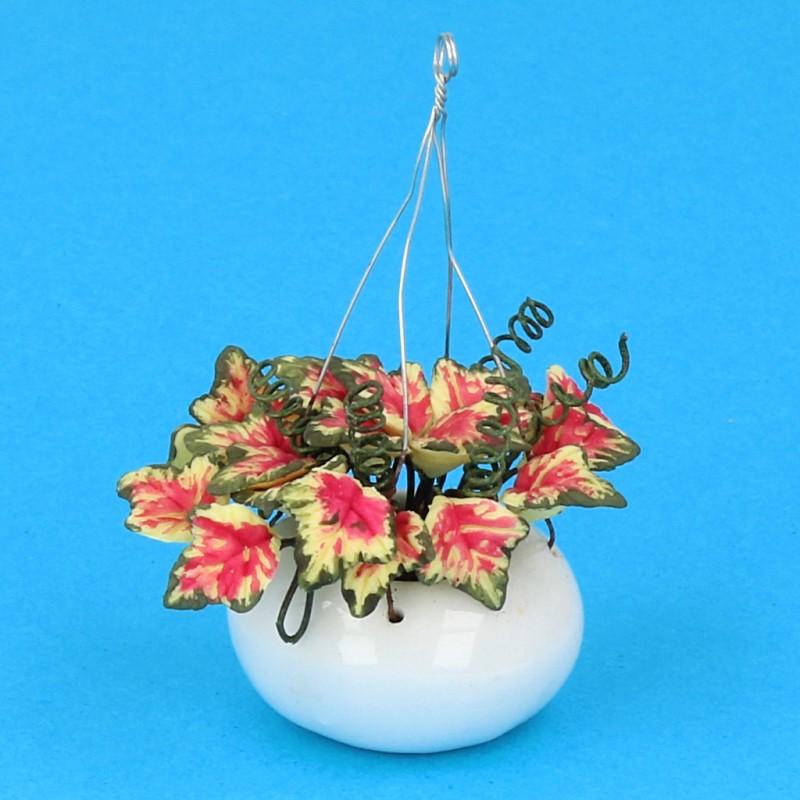 Tc2459 - Maceta colgante flores