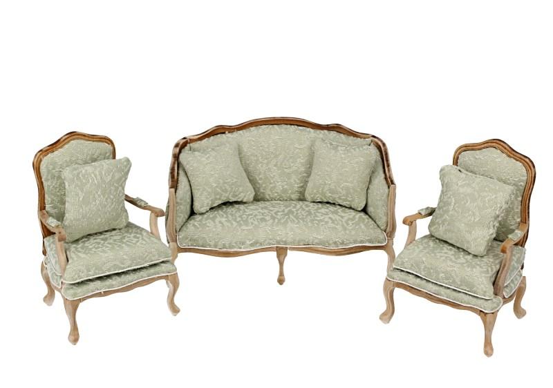 Cj0059 - Conjunto sofa verde