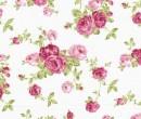 TL1333 - Stoffa bianca a fiori