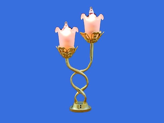 Sl3147 - Lampe de table deux tulipes