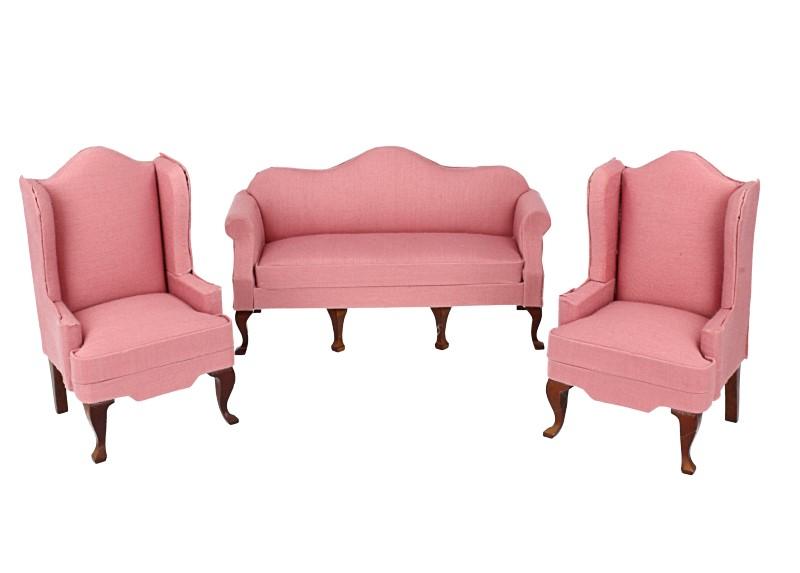 Cj0063 - Conjunto sofá rosa