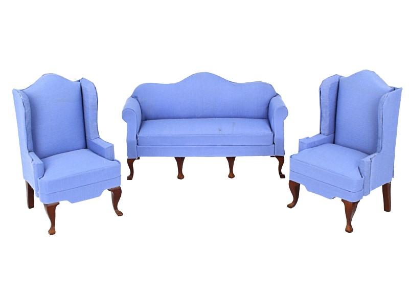 Cj0064 - Conjunto sofá azul