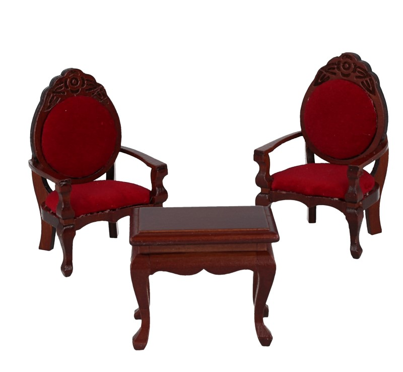 Mb0214 - Two chairs with coffee table